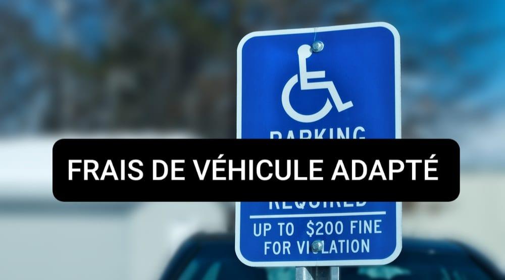 frais véhicule handicap